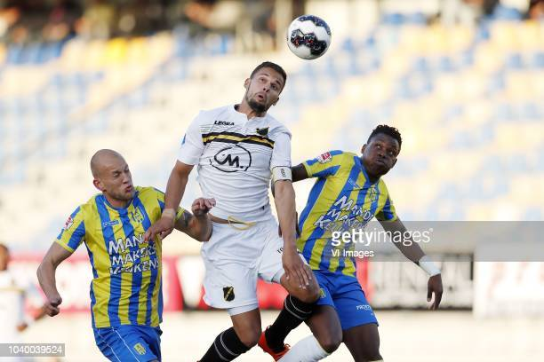 Jan Lammers of RKC Waalwijk Mitchell te Vrede of NAC Breda Gigli N Defe of RKC Waalwijk during the First round Dutch Cup match between RKC Waalwijk...