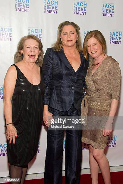 Jan Leeming actress Kathleen Turner and Artistic Director of Women's Project Julie Crosby attend the 26th Annual Women's Project's Women of...