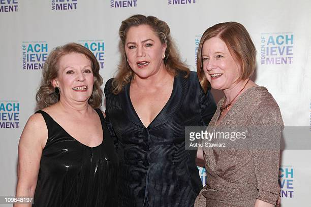 Jan Leeming Kathleen Turner and Julie Crosby attend the 26th Annual Women's Project's Women of Achievement Gala at Espace on March 7 2011 in New York...