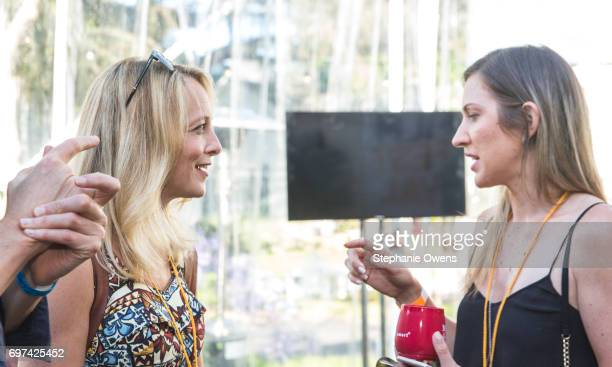 Jan LindsaySmith and Samantha Laidlaw attend the Women Filmmakers Event during 2017 Los Angeles Film Festival at Festival Lounge on June 16 2017 in...