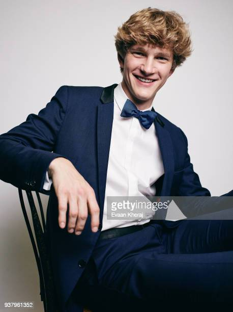Jan Lisiecki poses for a portrait at the YouTube x Getty Images Portrait Studio at 2018 Juno's Gala Awards Dinner on MARCH 25th 2018 in Vancouver BC