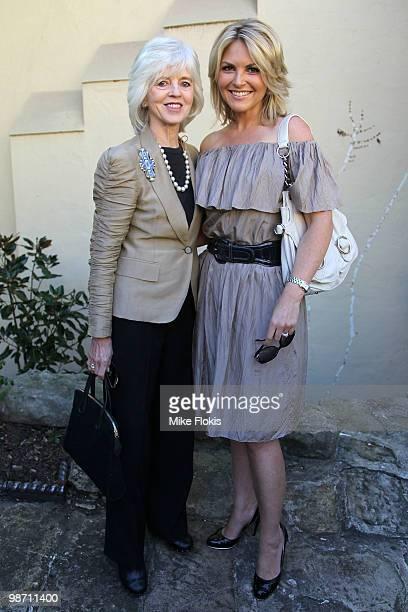 Jan Logan and Georgie Gardner attend the Carla Zampatti Summer Show on April 28 2010 in Sydney Australia