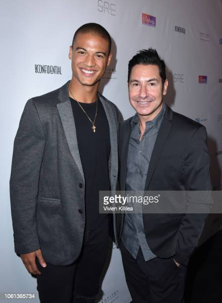 Jan Luis Castellanos and founder and CEO of The Krim Group Todd Krim attend the 2nd Annual Childhelp Hollywood Heroes Benefit on November 13 2018 in...