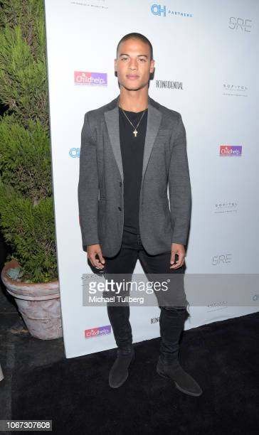 Jan Luis Castellanos attends the Hollywood Heroes charity event hosted by ChildHelp at Riviera 31 at Sofitel on November 13 2018 in Los Angeles...