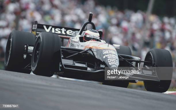 Jan Magnussen of Denmark drives the Visteon Patrick Racing Reynard 99i Ford XD during the Championship Auto Racing Teams 1999 FedEx Championship...