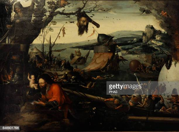 Jan Mandijn Dutch Renaissance painter Landscape with the Legend of St Christopher Early 16th century Oil on panel The State Hermitage Museum Saint...