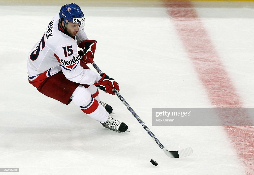 Jan Marek of Czech Republic in action during the IIHF World Championship group C match between Czech Republic and Norway at SAP Arena on May 11, 2010 in Mannheim, Germany.