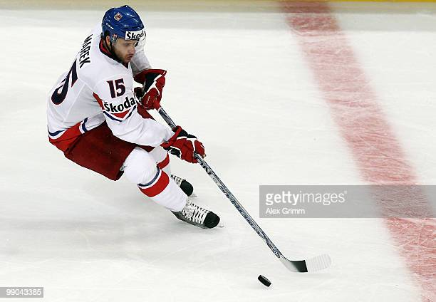 Jan Marek of Czech Republic in action during the IIHF World Championship group C match between Czech Republic and Norway at SAP Arena on May 11 2010...