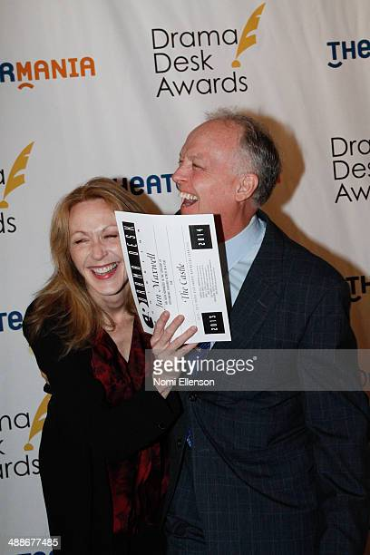 Jan Maxwell and Reed Birney attend the 2014 Drama Desk Awards Nominees Reception at Essex House on May 7 2014 in New York City