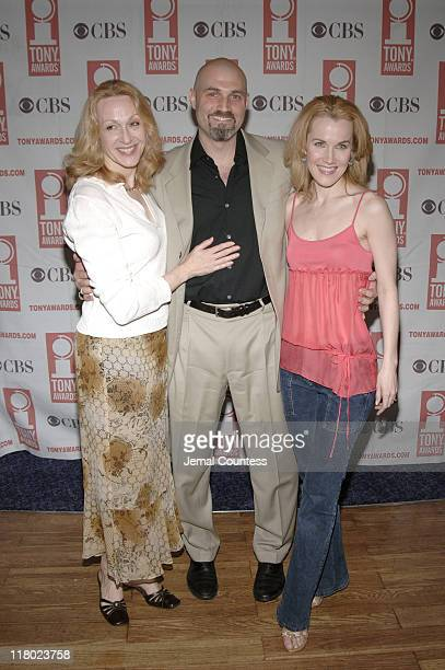 Jan Maxwell Marc Kudisch and Erin Dilly during 59th Annual Tony Awards 'Meet The Nominees' Press Reception at The View at The Marriot Marquis in New...