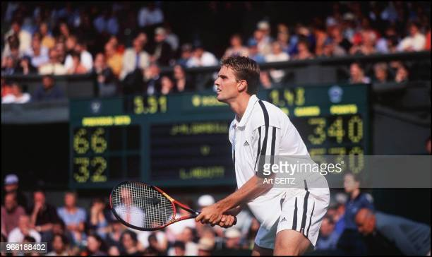 Jan Michael 'Airwolf' Gambill during his match with Lleyton Hewitt