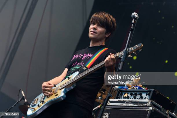 Jan Muller of German band Tocotronic performs live on stage in support of Beatsteaks during a concert at Waldbuehne Berlin on June 9 2018 in Berlin...
