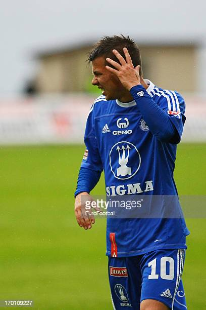Jan Navratil of SK Sigma Olomouc in action during the Czech First League match between FK Jablonec and SK Sigma Olomouc held on May 26, 2013 at the...