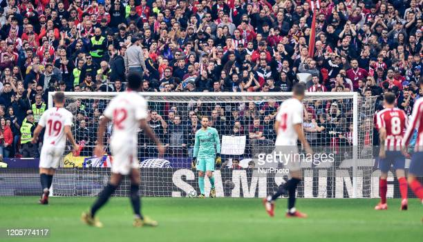 Jan Oblak during La Liga match between Atletico de Madrid and Sevilla FC at Wanda Metropolitano on March 07 2020 in Madrid Spain