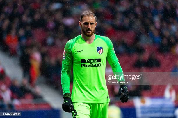 Jan Oblak during the La Liga match between Club Atletico de Madrid and Valencia CF at Wanda Metropolitano on April 24 2019 in Madrid Spain