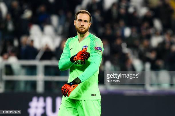 Jan Oblak during the UEFA Champions League round of 16 second leg match between Club Atletico de Madrid and Juventus FC at Allianz Stadium on March...