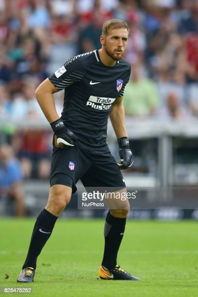 Jan Oblak of Atletico de Madrid during the first Audi Cup football match between Atletico Madrid and SSC Napoli in the stadium in Munich southern...