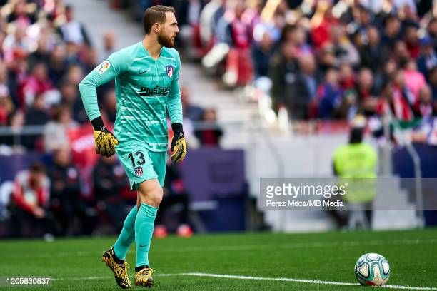 Jan Oblak of Atletico de Madrid during the Liga match between Club Atletico de Madrid and Sevilla FC at Wanda Metropolitano on March 7 2020 in Madrid...
