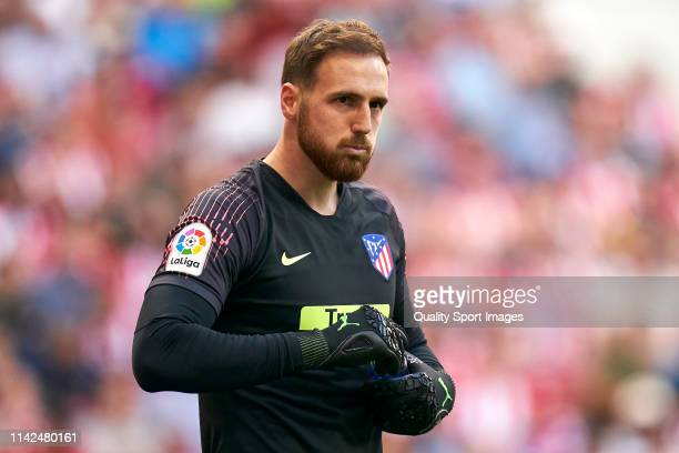 Jan Oblak of Atletico de Madrid in action during the La Liga match between Club Atletico de Madrid and RC Celta de Vigo at Wanda Metropolitano on...