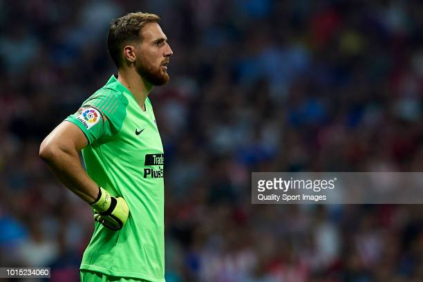 Jan Oblak of Atletico de Madrid looks on during the International Champions Cup 2018 match between Atletico de Madrid and FC Internazionale at Wanda...