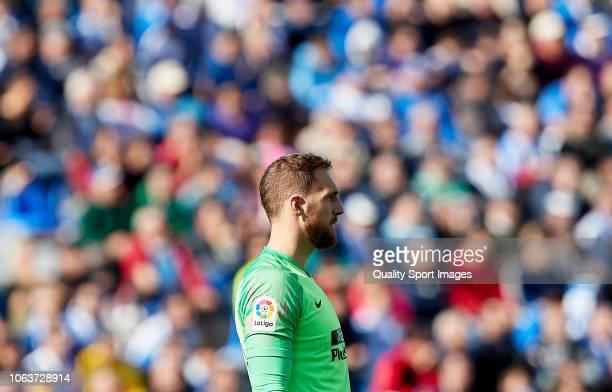Jan Oblak of Atletico de Madrid looks on during the La Liga match between CD Leganes and Club Atletico de Madrid at Estadio Municipal de Butarque on...