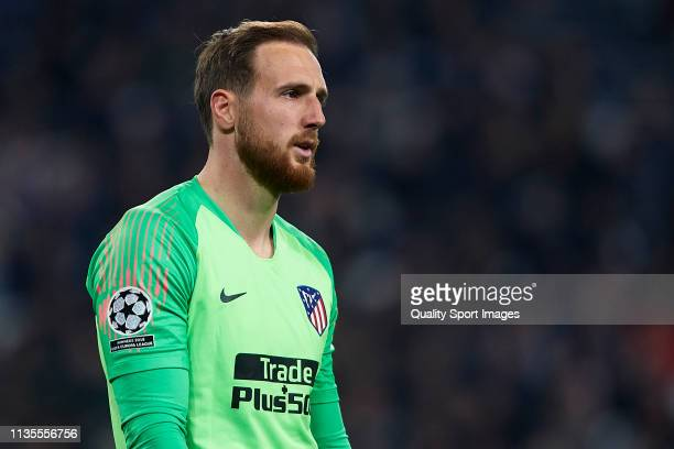 Jan Oblak of Atletico de Madrid looks on during the UEFA Champions League Round of 16 Second Leg match between Juventus and Club Atletico de Madrid...