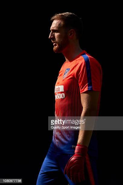 Jan Oblak of Atletico de Madrid looks on prior to the La Liga match between RC Celta de Vigo and Club Atletico de Madrid at Abanca Balaidos Stadium...