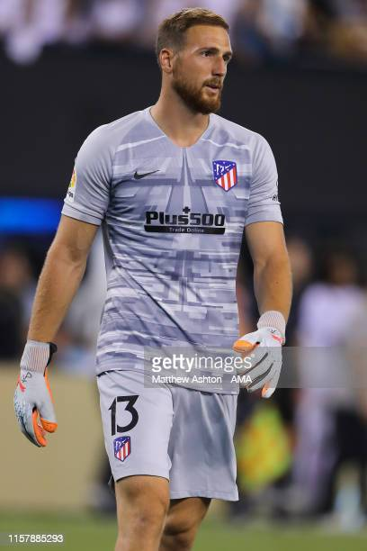 Jan Oblak of Atletico Madrid during the 2019 International Champions Cup match between Real Madrid and Atletico de Madrid at MetLife Stadium on July...