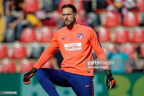 Jan Oblak of Atletico Madrid during the La Liga Santander match between Rayo Vallecano v Atletico Madrid at the Campo de Fútbol de Vallecas on...
