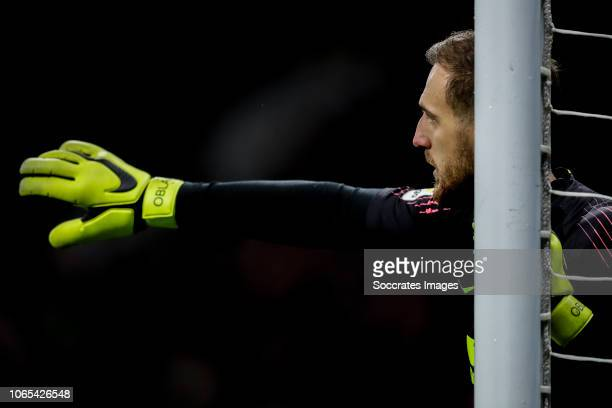 Jan Oblak of Atletico Madrid during the La Liga Santander match between Atletico Madrid v FC Barcelona at the Estadio Wanda Metropolitano on November...