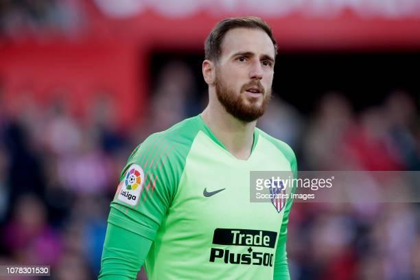 Jan Oblak of Atletico Madrid during the La Liga Santander match between Sevilla v Atletico Madrid at the Estadio Ramon Sanchez Pizjuan on January 6...