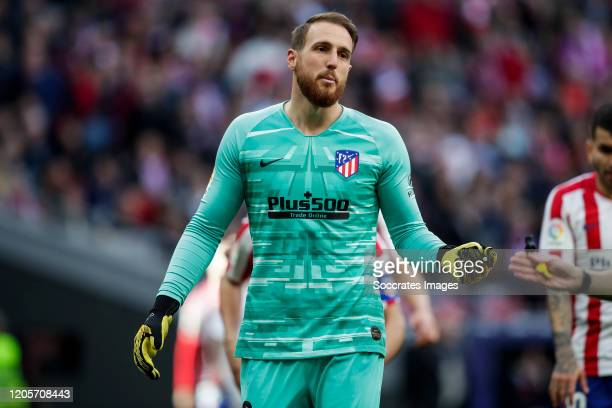 Jan Oblak of Atletico Madrid during the La Liga Santander match between Atletico Madrid v Sevilla at the Estadio Wanda Metropolitano on March 7 2020...