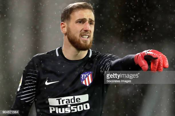 Jan Oblak of Atletico Madrid during the La Liga Santander match between Eibar v Atletico Madrid at the Estadio Municipal de Ipurua on January 13 2018...