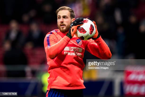 Jan Oblak of Atletico Madrid during the Spanish Copa del Rey match between Atletico Madrid v Girona at the Estadio Wanda Metropolitano on January 16...