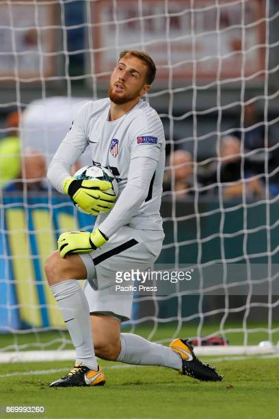 Jan Oblak of Atletico Madrid during the UEFA Champions League Group C soccer match against Roma in Rome The match ended in a 00 draw