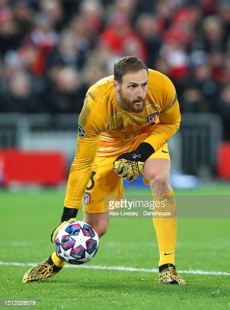Jan Oblak of Atletico Madrid during the UEFA Champions League round of 16 second leg match between Liverpool FC and Atletico Madrid at Anfield on...