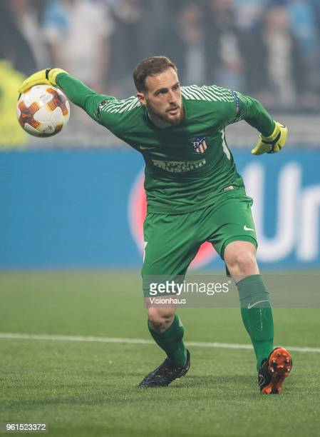 Jan Oblak of Atletico Madrid during the UEFA Europa League Final between Olympique de Marseille and Club Atletico de Madrid at Stade de Lyon on May...