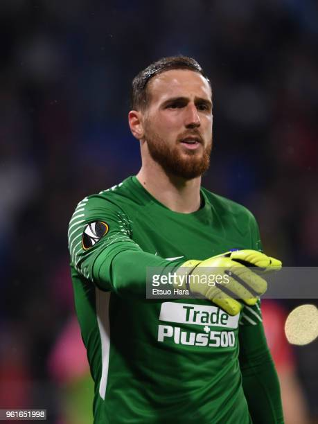 Jan Oblak of Atletico Madrid in action during the UEFA Europa League Final between Olympique de Marseille and Club Atletico de Madrid at Stade de...