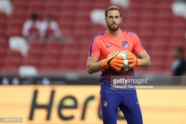 Jan Oblak of Club Atletico de Madrid in action during the International Champions Cup 2018 match between Club Atletico de Madrid and Arsenal at the...