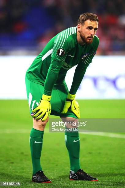 Jan Oblak of Club Atletico de Madrid looks on during the UEFA Europa League Final between Olympique de Marseille and Club Atletico de Madrid at Stade...