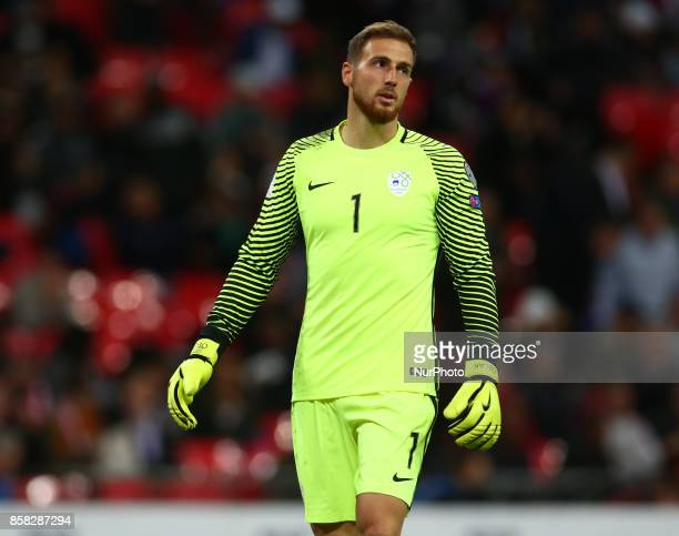 Jan Oblak of Slovenia during FIFA World Cup Qualifying - European Region - Group F match between England and Slovenia at Wembley stadium, London 05...