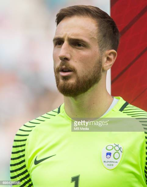 Jan Oblak of Slovenia during football match between National teams of Slovenia and Malta in Round of FIFA World Cup Russia 2018 qualifications in...