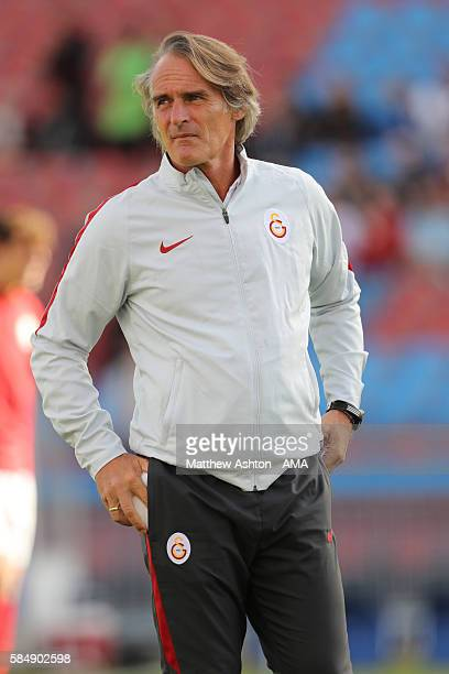 Jan Olde Riekerink the head coach / manager of Galatasaray SK during the PreSeason Friendly match between Manchester United and Galatasaray at Ullevi...
