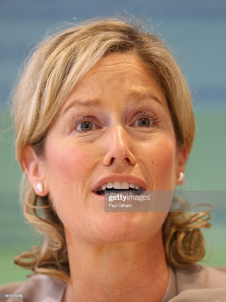 Jan Paterson of the BOA talks to the media during a British Olympic Association Media Briefing at the BOA Headquarters on April 25, 2013 in London, England.