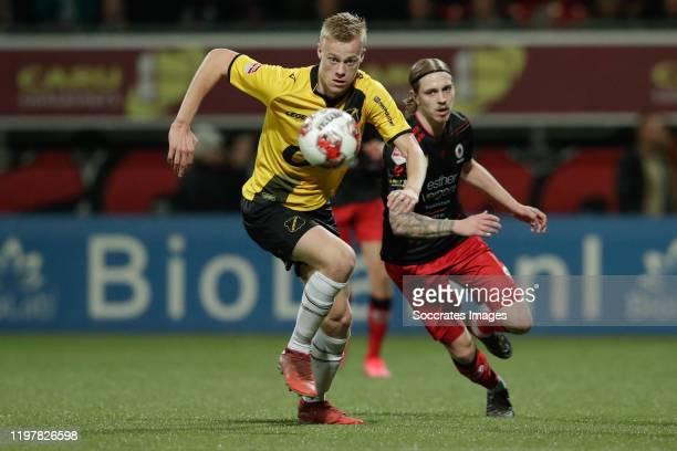 Jan Paul van Hecke of NAC Breda, Elias Mar Omarsson of Excelsior Rotterdam during the Dutch Keuken Kampioen Divisie match between Excelsior v NAC...
