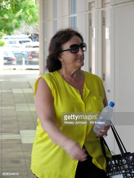 Jan Pittman the girlfriend of Bradley Murdoch arrives at the Northern Territory Supreme Court in Darwin Australia Monday October 31 2005 The forensic...