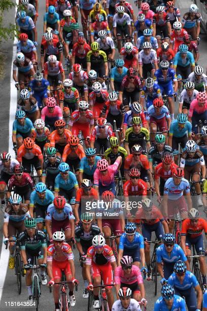 Jan Polanc of Slovenia and UAE - Team Emirates Pink Leader Jersey / Ilnur Zakarin of Russia and Team Katusha Alpecin / Dario Cataldo of Italy and...
