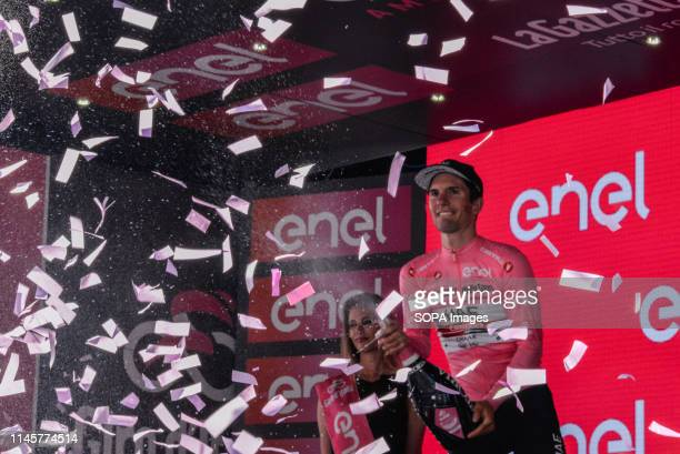 Jan Polanc of Slovenia and UAE Team Emirates Pink Leader seen during the 102nd Giro d'Italia 2019 Stage 12 a 158km stage from Cuneo to Pinerolo of...