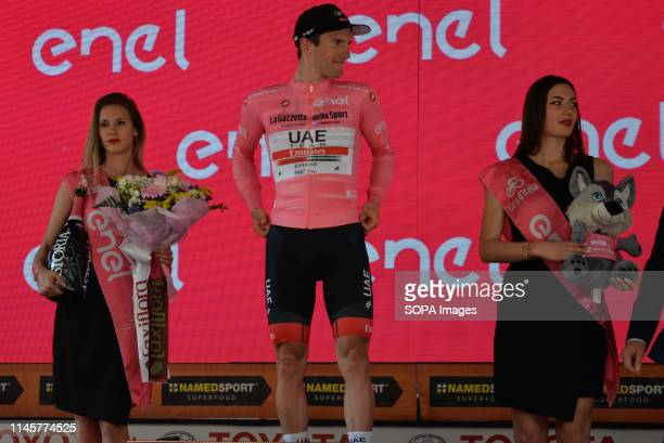 Jan Polanc of Slovenia and UAE - Team Emirates Pink Leader seen during the 102nd Giro d'Italia 2019, Stage 12 a 158km stage from Cuneo to Pinerolo of...