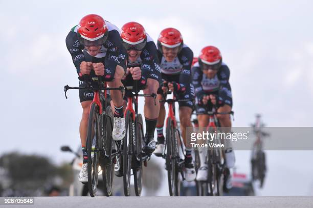 Jan Polanc of Slovenia / UAE Team Emirates of The United Arab Emirates / during the 53rd TirrenoAdriatico 2018 / Stage 1 Team Time Trial of 215km on...